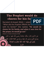 The Prophet Would Do Chores for His Family