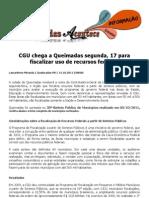 CGU Chega a Queimadas Segunda, 17 Para Fiscalizar Uso de Recursos Federais