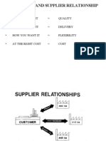 Purchase & Supplier Relationships
