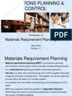 Joju Johny- Materials Requirement Planning