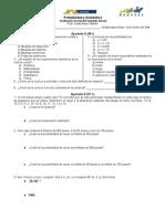 Examen Del Segundo Parcial Probabilidad y Estadística