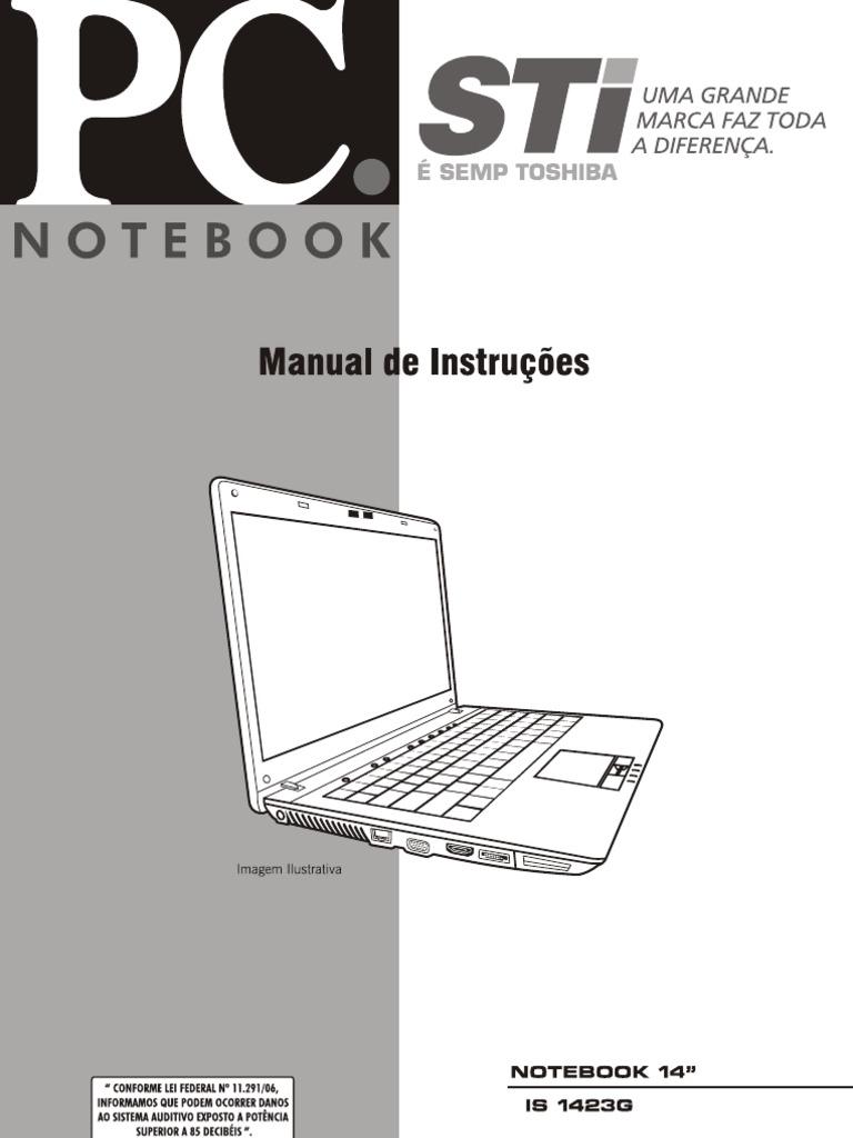 manual de instru es ne sti rh pt scribd com manual notebook semp toshiba is 1422 manual notebook semp toshiba is 1414