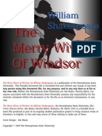 Merry Wives of Wndsor - Shakespeare