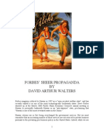 Forbes' Sheer Propaganda Identifies Hawaii as Socialist State