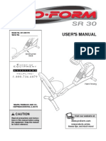 Proform SR30 Manual
