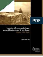 Impactos del reasentamiento por vulnerabilidad en áreas de alto riesgo. Bogotá, 1991-2005