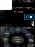 Role of Psychiaric Nurse