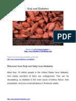Goji and Diabetes