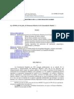 Ley 10/1998 de Patrimonio Histórico de la Comunidad de Madrid