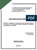 RELATÓRIO PRÁTICA ELETRICA 1