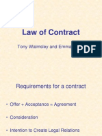 Sample Lecture - Law - Contract Law
