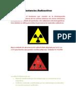 Sustancias Radioactivas