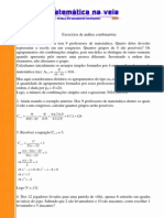 Analise Combinatoria - Exercicios de Combinacoes