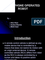 Cell Phone Operated Robot
