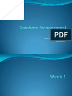 Database Management LNotes by John Martin