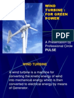Wind Turbine - For Green Power