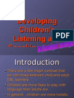 Developing Children's Listening and Speaking in ESL