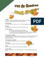 Concurso de Quadras de Outono e S. Martinho Regulamento