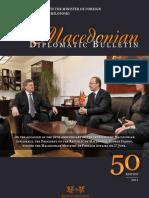 Macedonian diplomatic bulletin No. 50