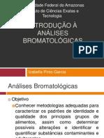 Aula 1 - Introdução à Análises Bromatológicas