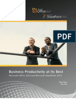 Business Productivity at Its Best - Office 2010 and Share Point 2010