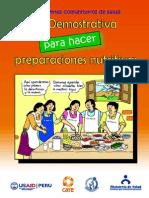Guia de Sesiones Demostrativas en Preparaciones Nutritivas - MINSA
