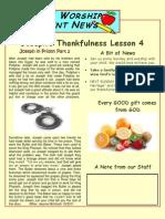 Joseph in Prison Parent Newsletter 4