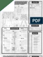 Battle Tech - BattleMech Record Sheet