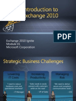 Exchange 2010 - Mod 01 - Overview