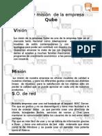 Visión y misión  de la empresa Qube