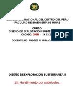DISEÑO DE EXPLOT SUBTERRANEA II-3
