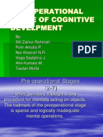 Pre-operational Stage of Cognitive Develpment