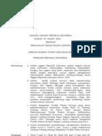 UU Nomor 46 Tahun 2009 Tentang Pengadilan Tipikor