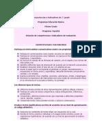 COMPETENCIAS E INDICADORES