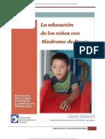 EDUCACION DE NIÑOS CON SD