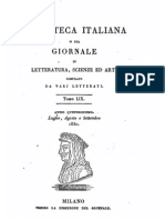 AA VV, Biblioteca italiana o sia giornale di letteratura, scienze ed arti 1830