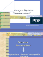 literatura pre-hispánica