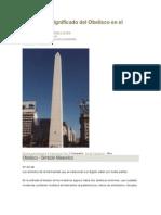 Significado Del Obelisco