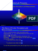 The Basics of Color Perception and Measurement