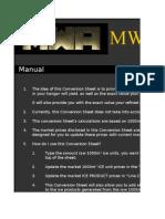 MWA - Ice Conversion Sheet