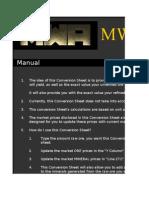 MWA - Ore Conversion Sheet