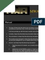 MWA - Manufacturing Sheet - Capital Ships - Carriers & Motherships