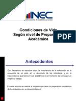 Condiciones+de+Vida+Según+Nivel+Preparación+Académica