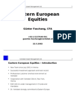 Presentation - Guenter Faschang, Vontobel Asset Management - Vilnius, Lithuania - March 22, 2002