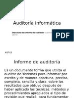 Informe Auditoría informática