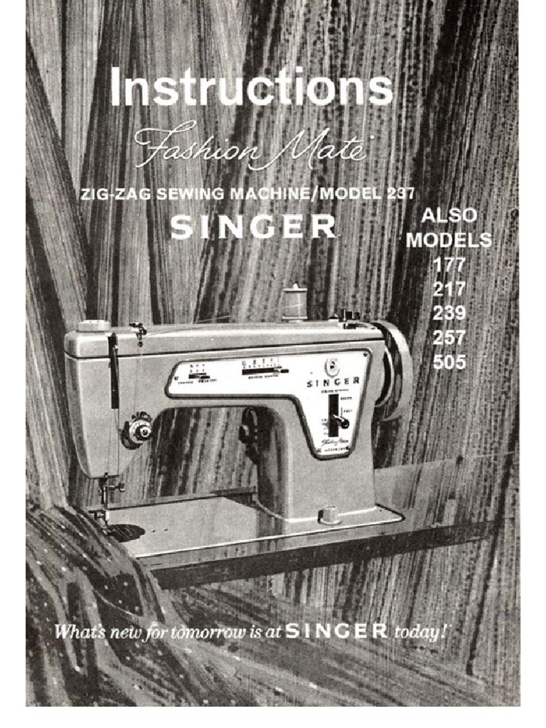 singer fashion mate 257 service manual