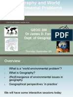 2-Geography and World Environmental Problems
