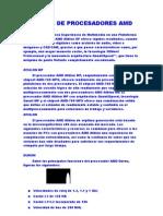 Clases de Procesadores Amd