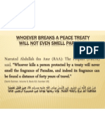 Whoever Breaks a Peace Treaty Will Not Even Smell Paradise