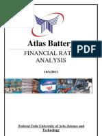 Atlas Battery Report Working
